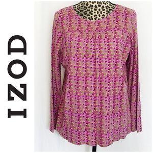 🎀 3/$25 Izod Purple & Green Long Sleeve Top